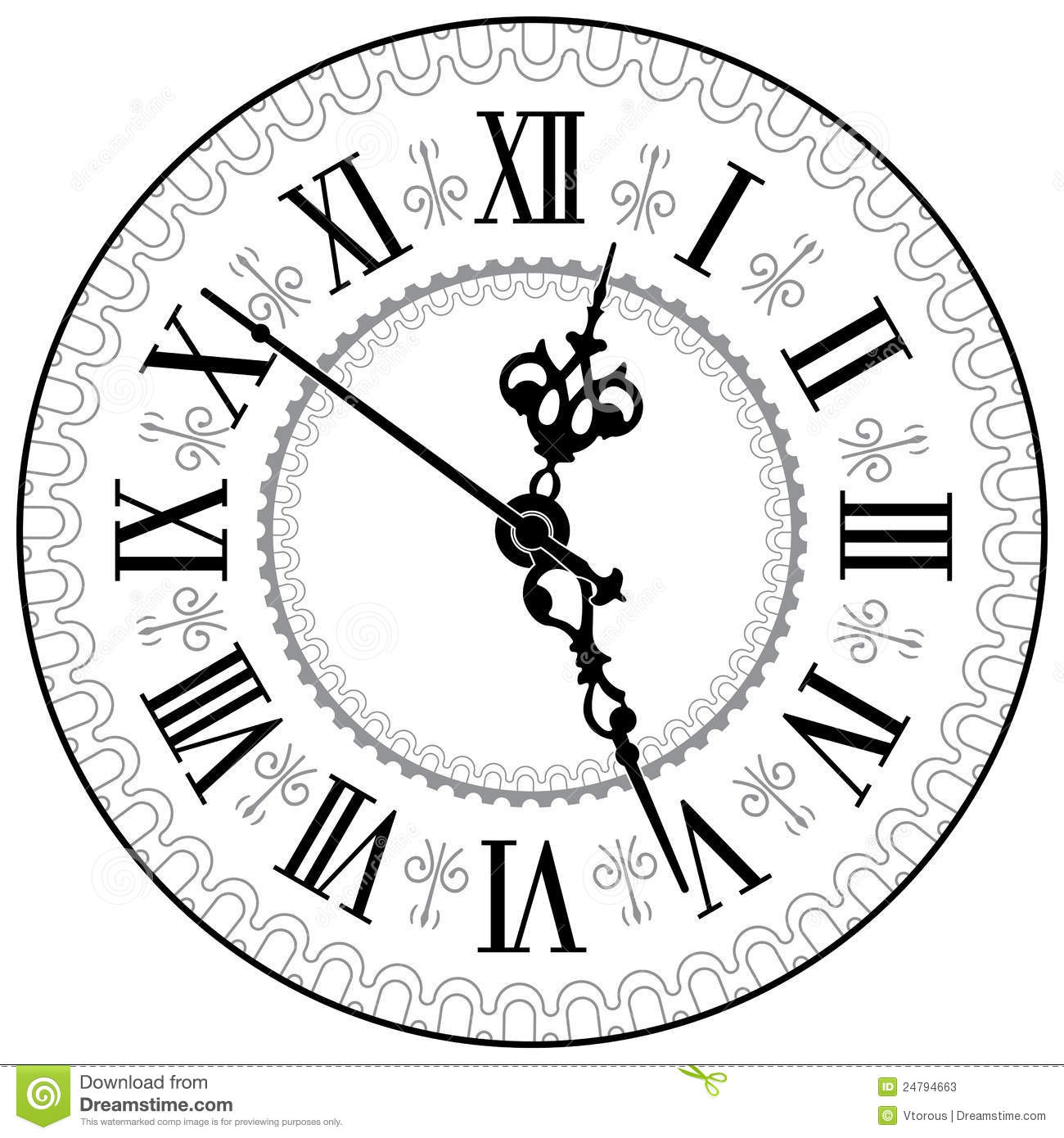 Antique Clock Stock Photos Image 24794663