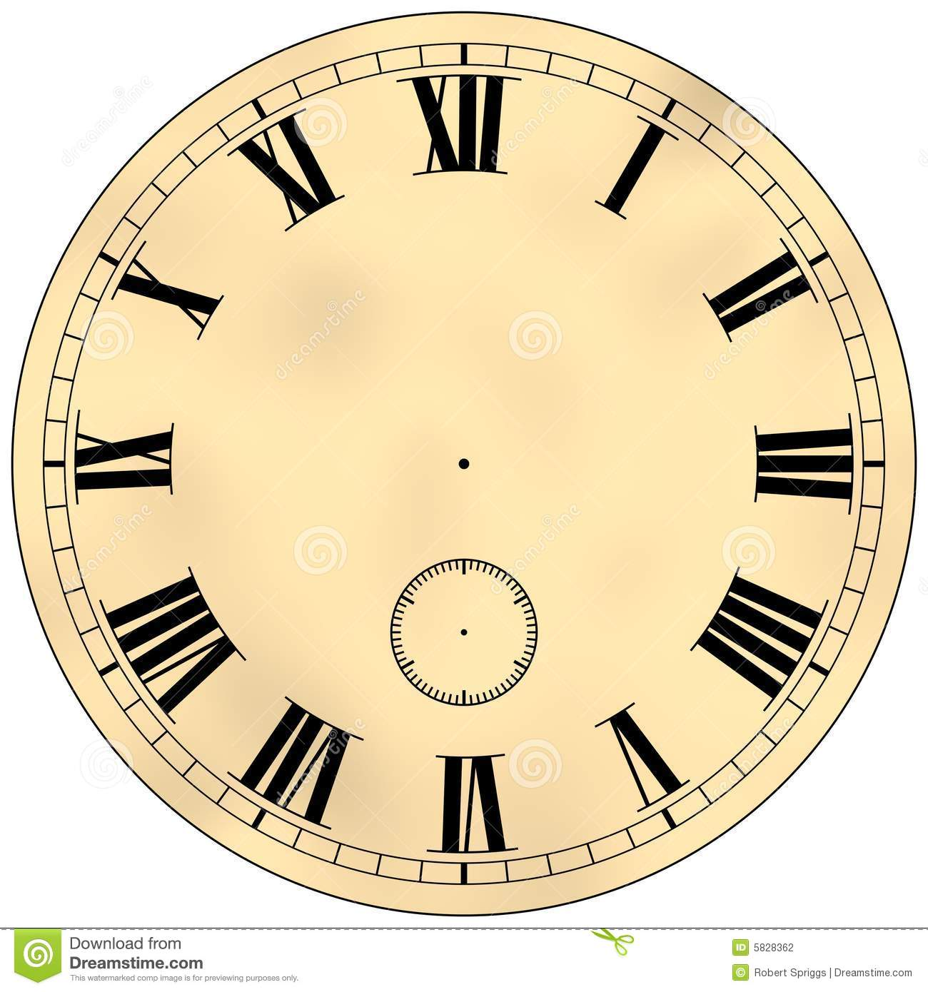 Antique Clock Face Stock Illustration Illustration Of