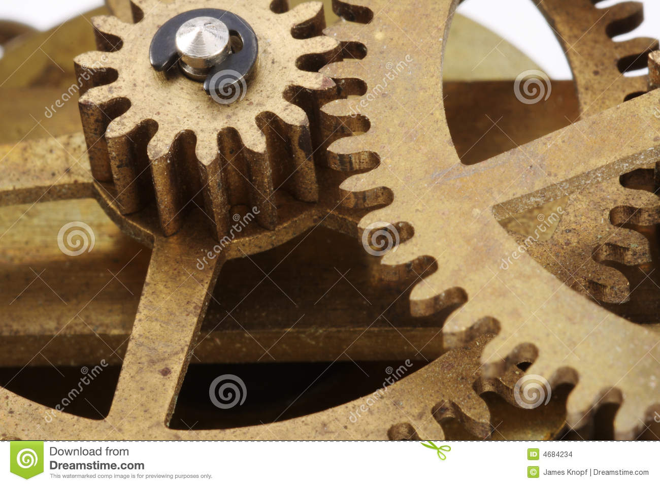 Old Clock Gears : Antique clock gears macro stock images image