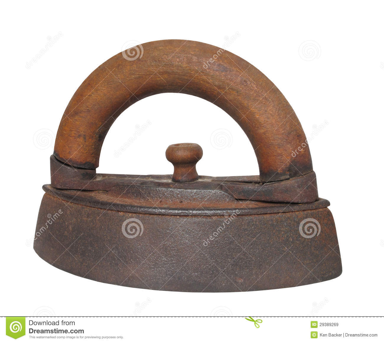 Non Electric Clothes Irons ~ Antique clothes iron isolated royalty free stock images