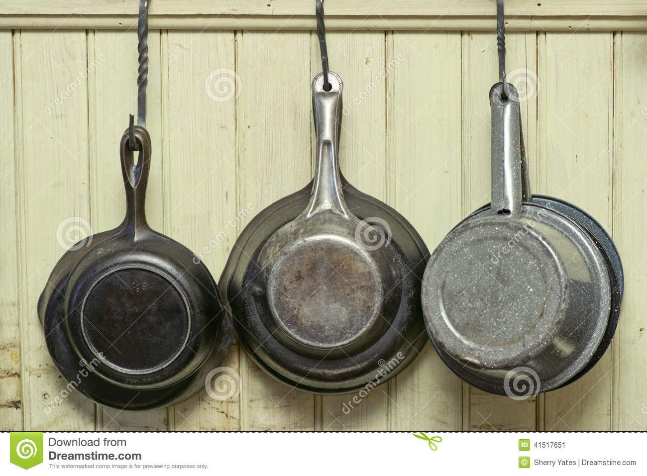 Antique Cookware Stock Photo - Image: 41517651
