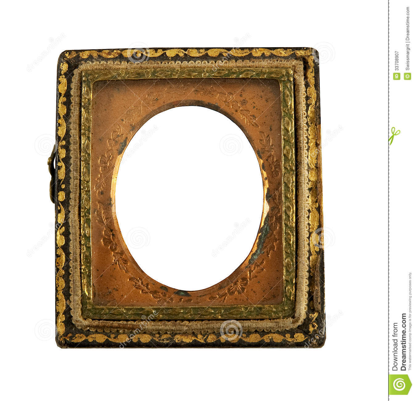 Antique Daguerreotype Metal Frame Royalty Free Stock