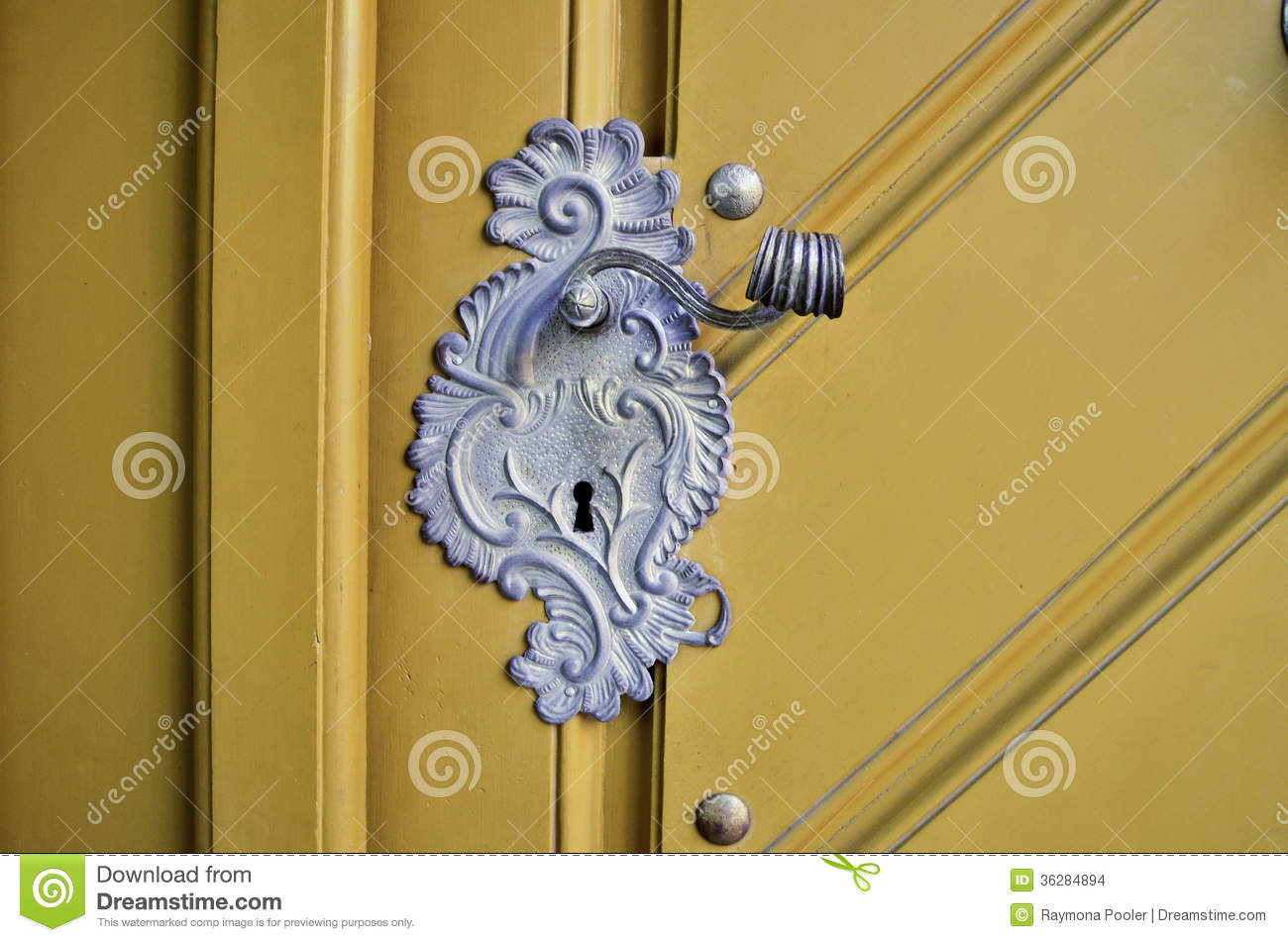 Antique door handle stock images image 36284894 for Door z prague