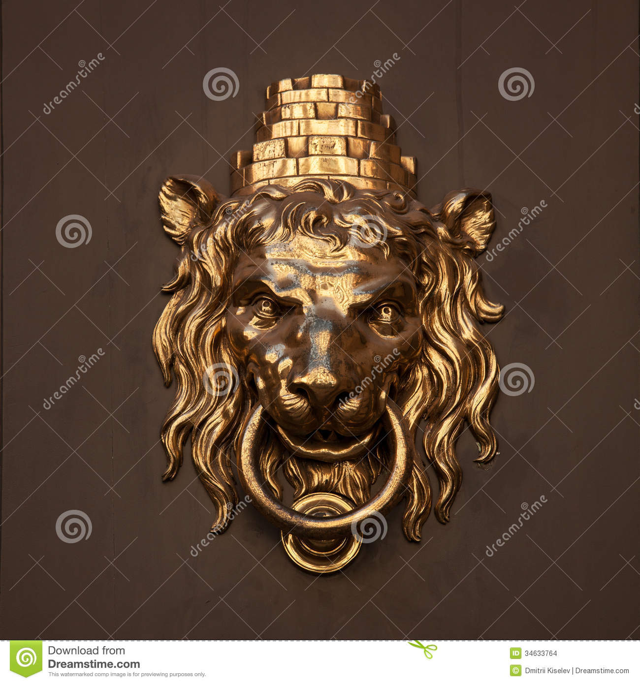 Superbe Antique Door Handle In The Form Of A Lion