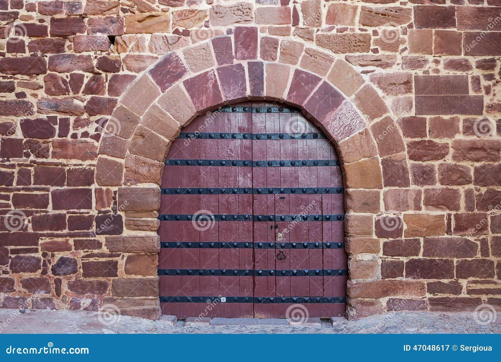 Antique Doors Gates Portuguese Castle Stock Photo