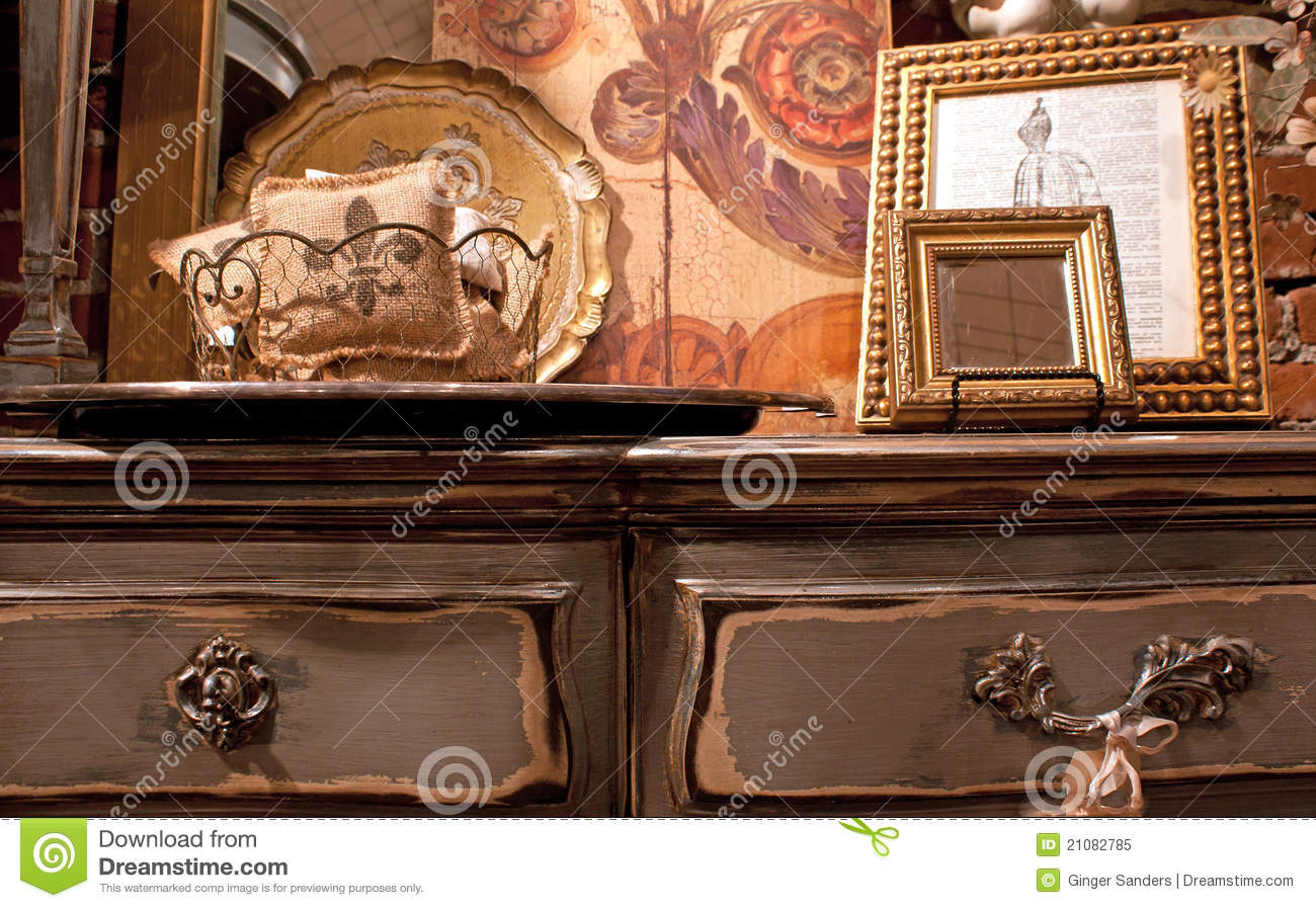 Antique Dresser and French Decor