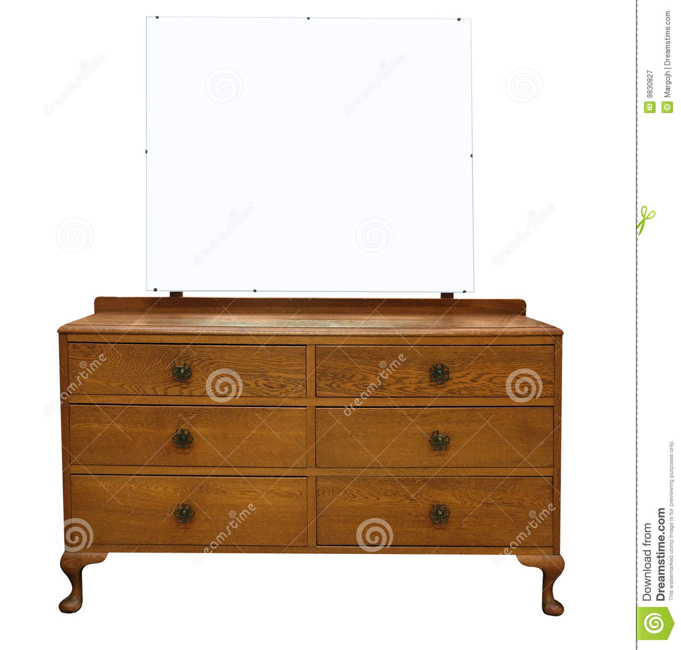 Antique dressing table with mirror - Antique Dressing Table With Mirror Royalty Free Stock Photography