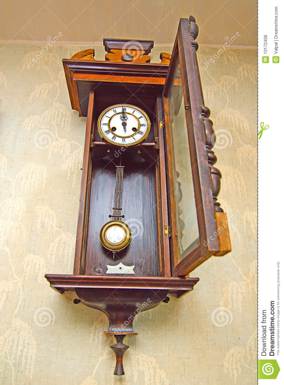 Antique Drum Head Grandfather Clock Stock Photography ...