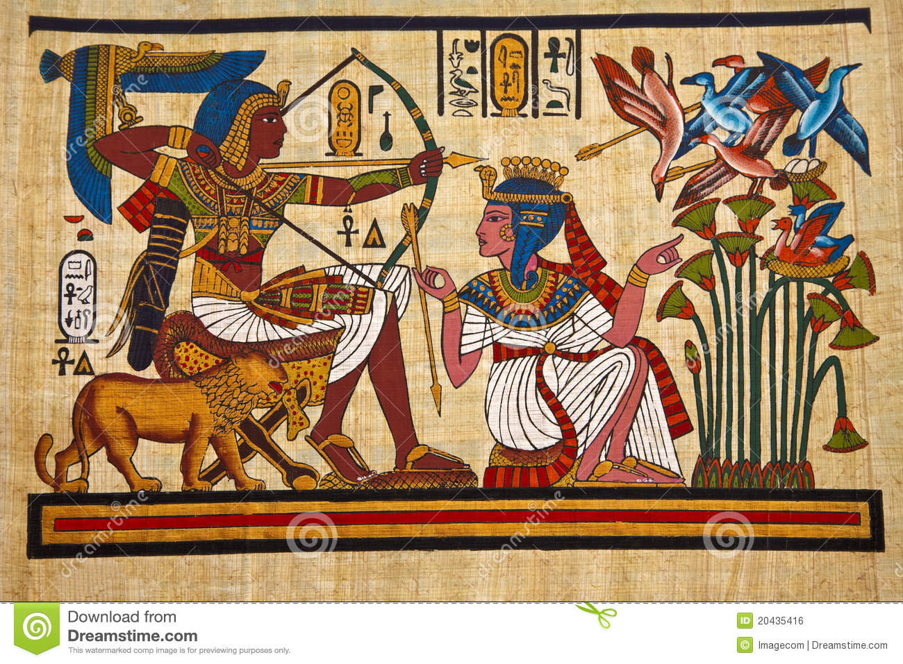 Antique egyptian papyrus stock photo image of egyptian for Egyptian wallpaper mural