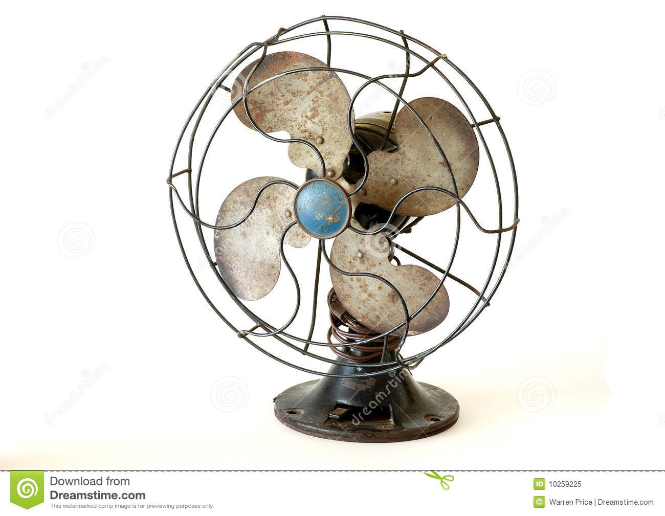 Antique Electric Fan Stock Image  Image Of Wire