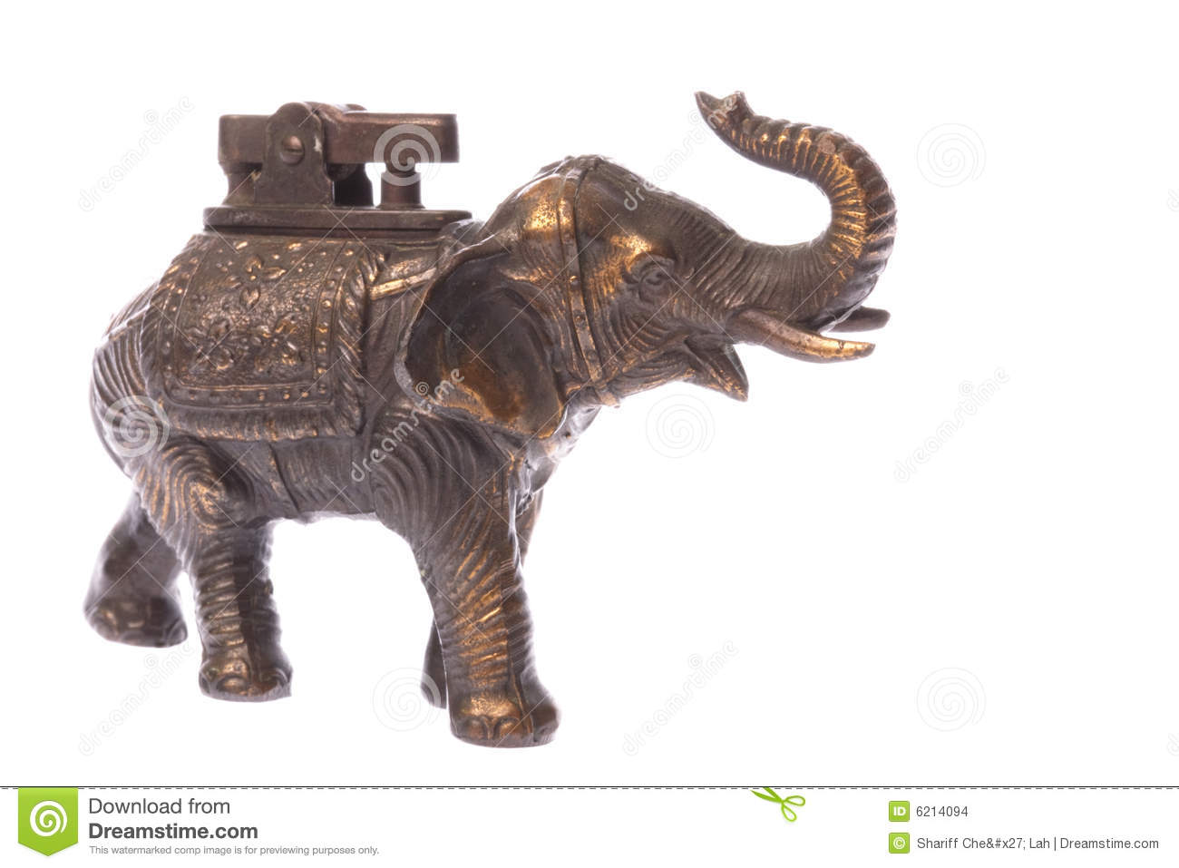 Antique Elephant Brass Lighter Stock Images Image 6214094