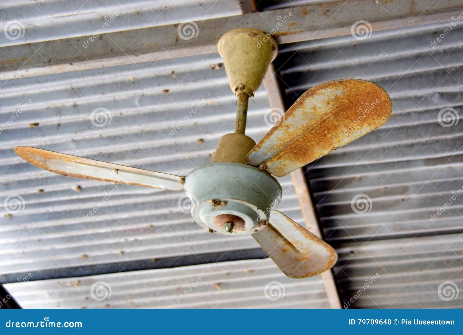 Antique Fan Stock Photo Image Of Antique Rust Ceiling 79709640