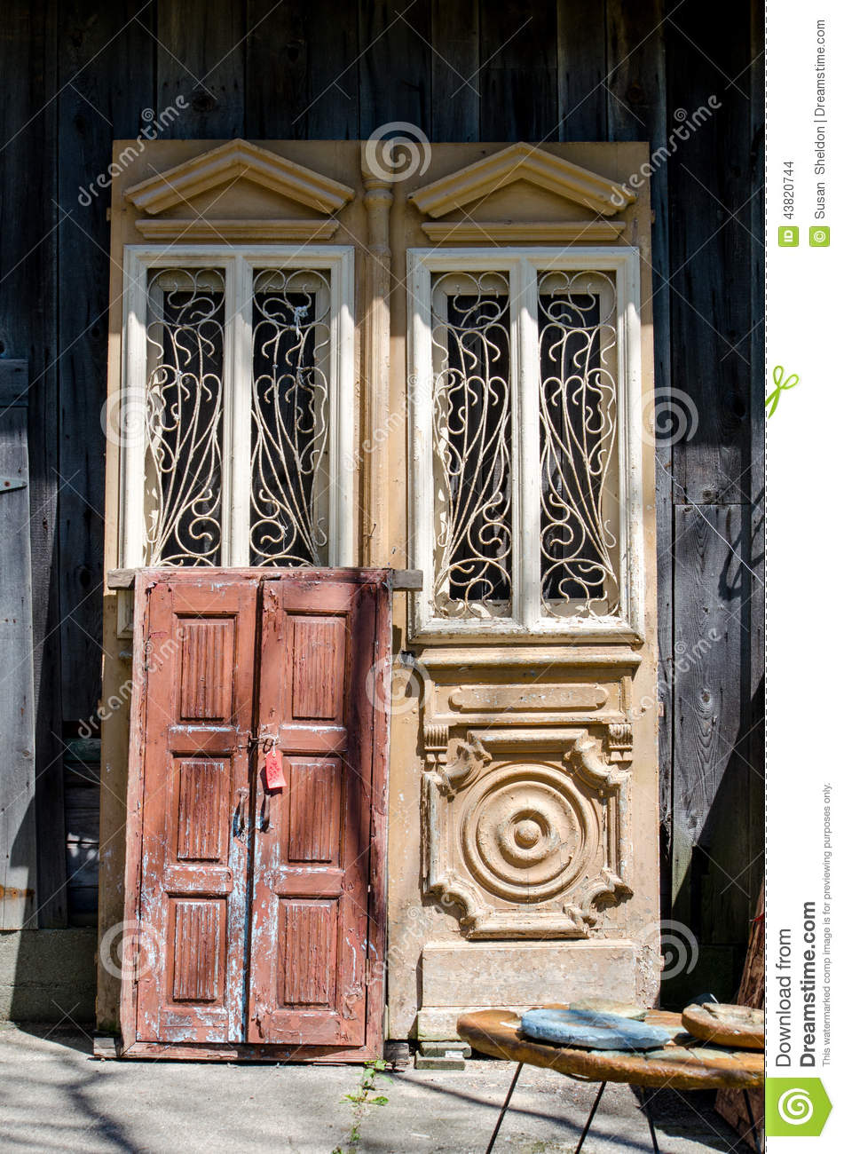 Antique Fancy Doors Stock Photo Image Of Craftsmanship