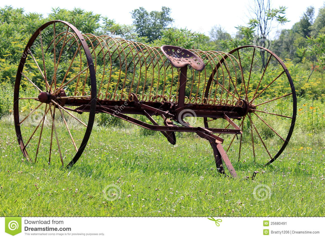 Antique farm equipment stock image. Image of blades ...