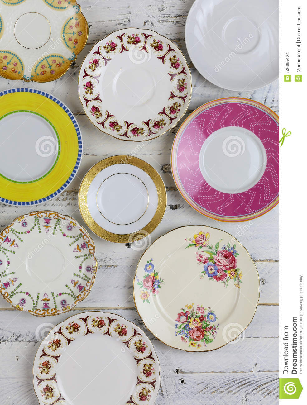 Antique Figure Plates Assorted Vintage China Pattern White