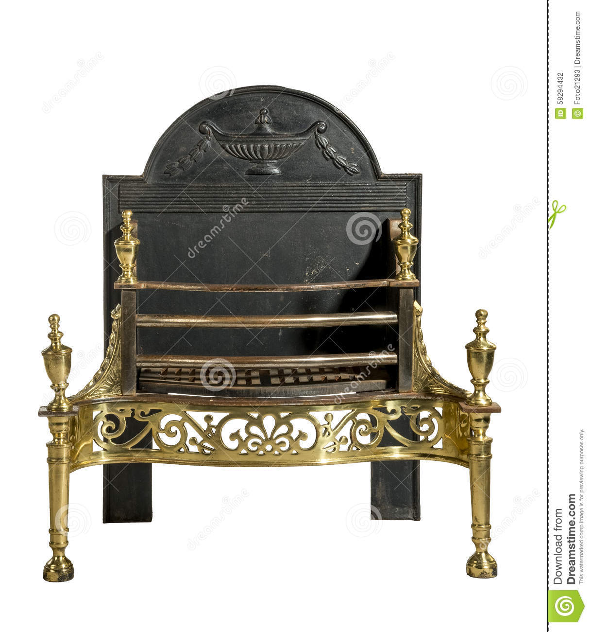 Antique Fireplace Grate Old Antique Stock Photo Image 58294432