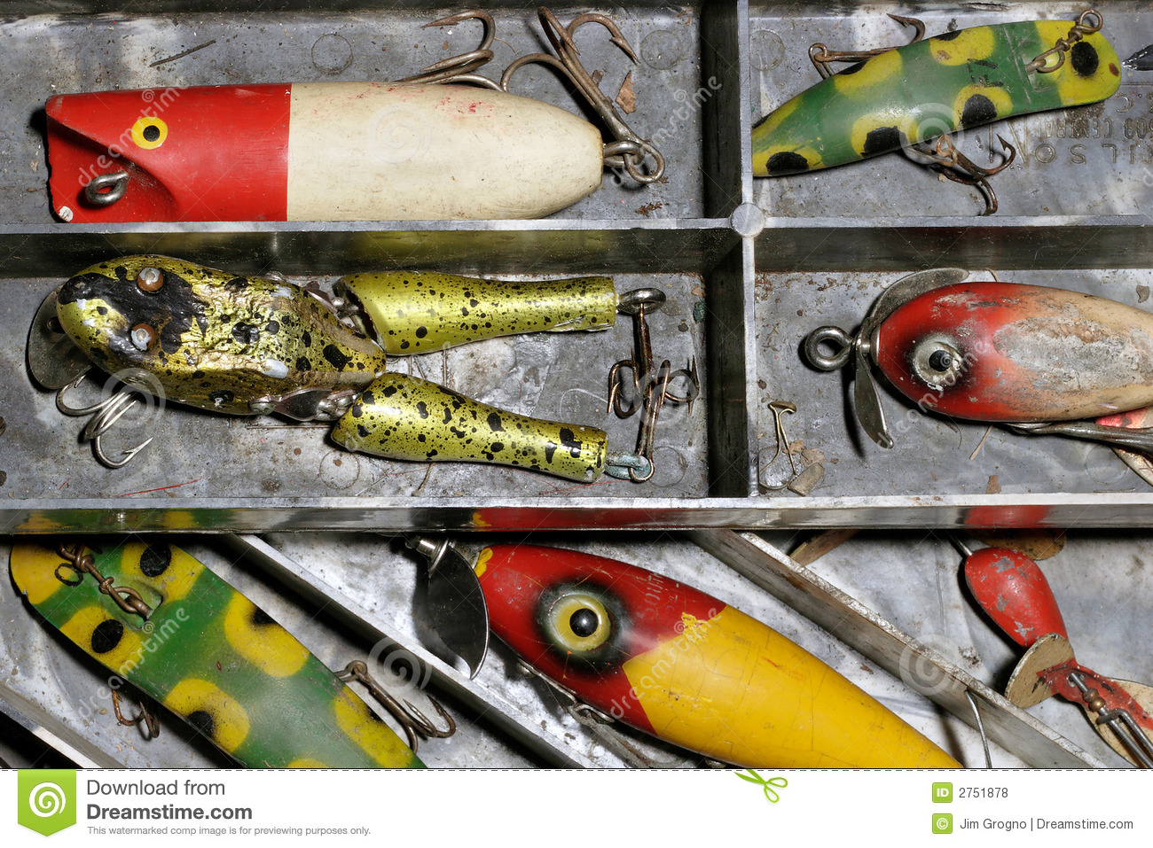 Antique fishing lures stock photo image of wood fishing for Antique fishing lures prices