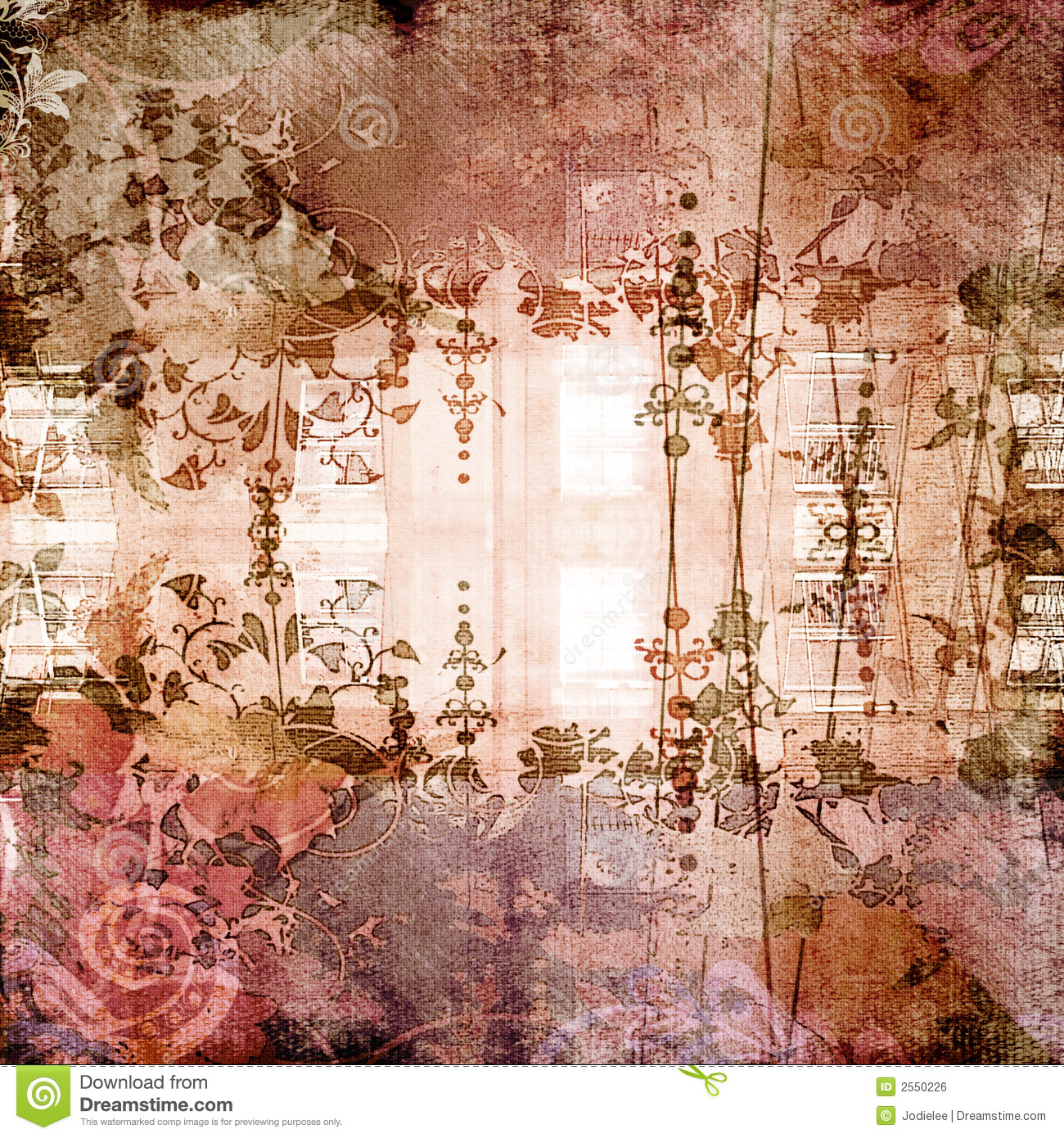 Antique Floral Background Stock Photo Image Of Exotic 2550226
