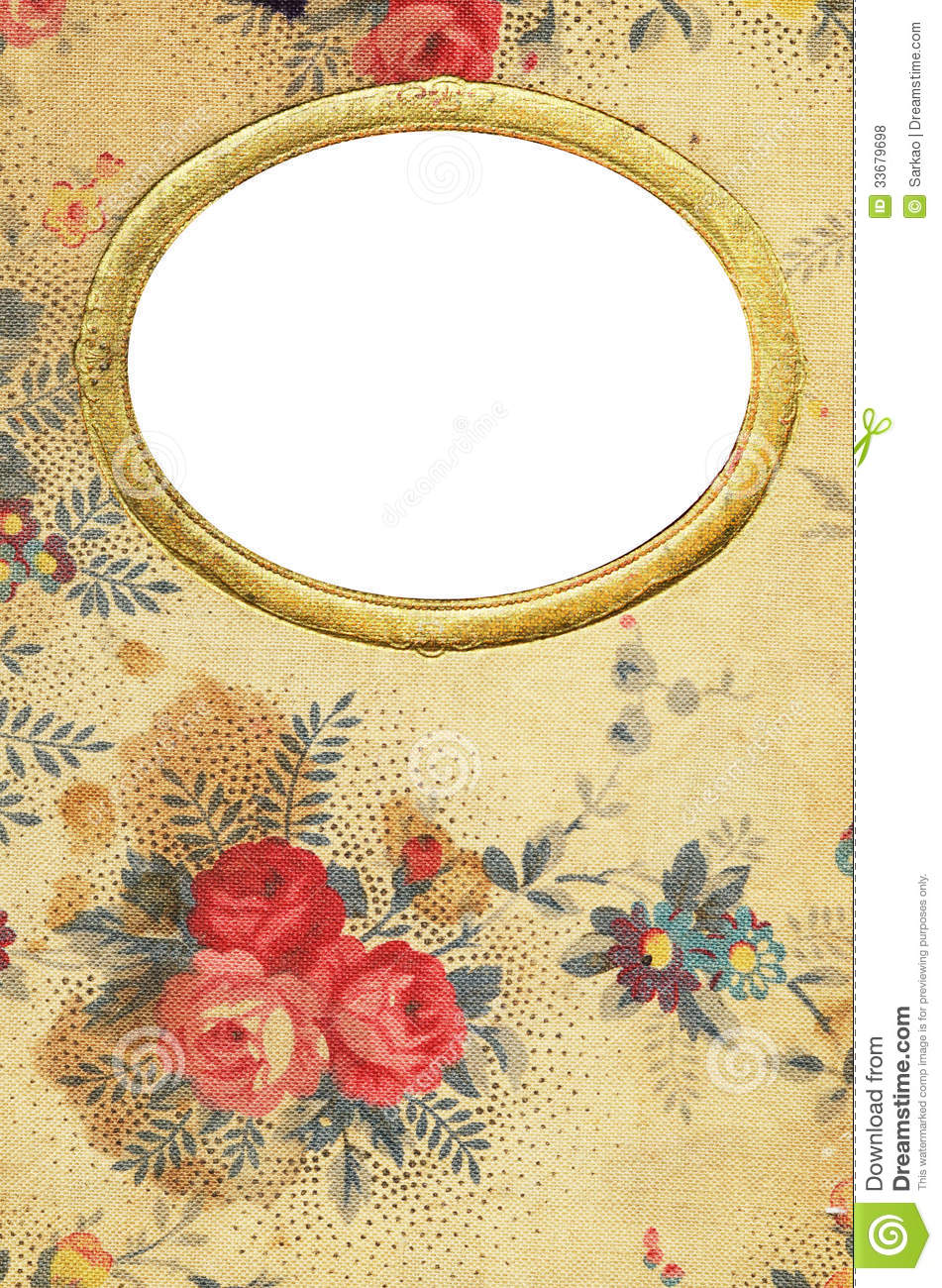 Antique Floral Diary Cover Royalty Free Stock Photos Image 33679698