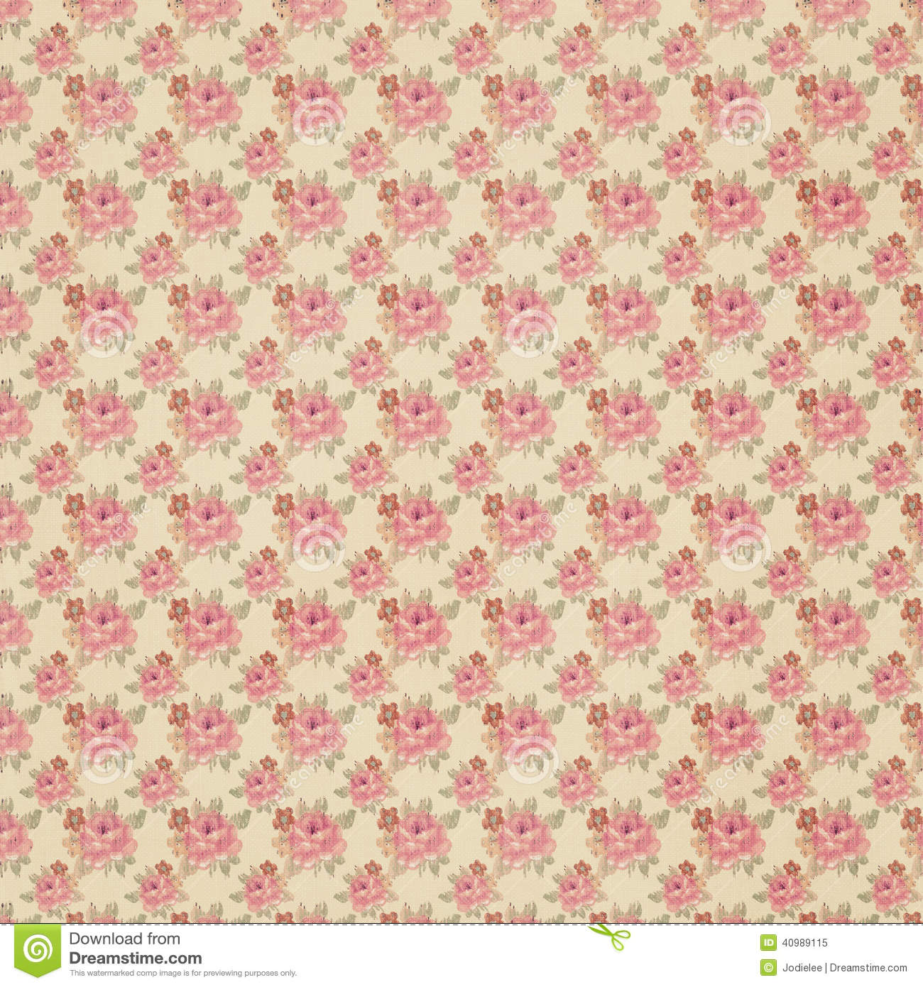 Antique Floral Wallpaper Stock Image Image Of Patterns 40989115