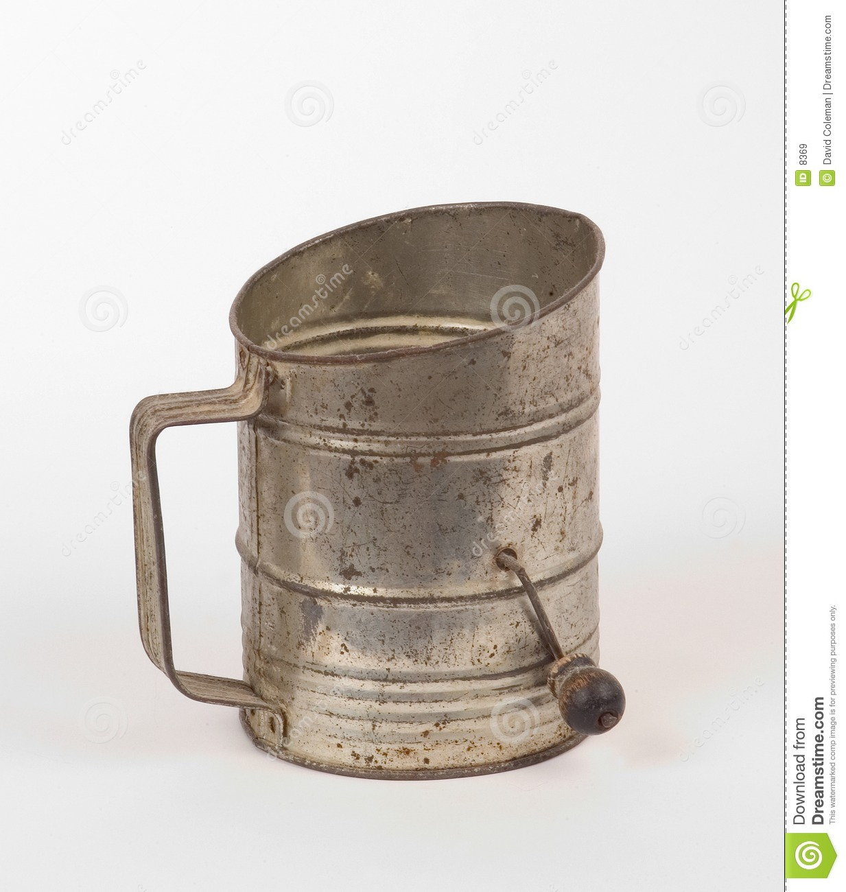 Antique flour sifter