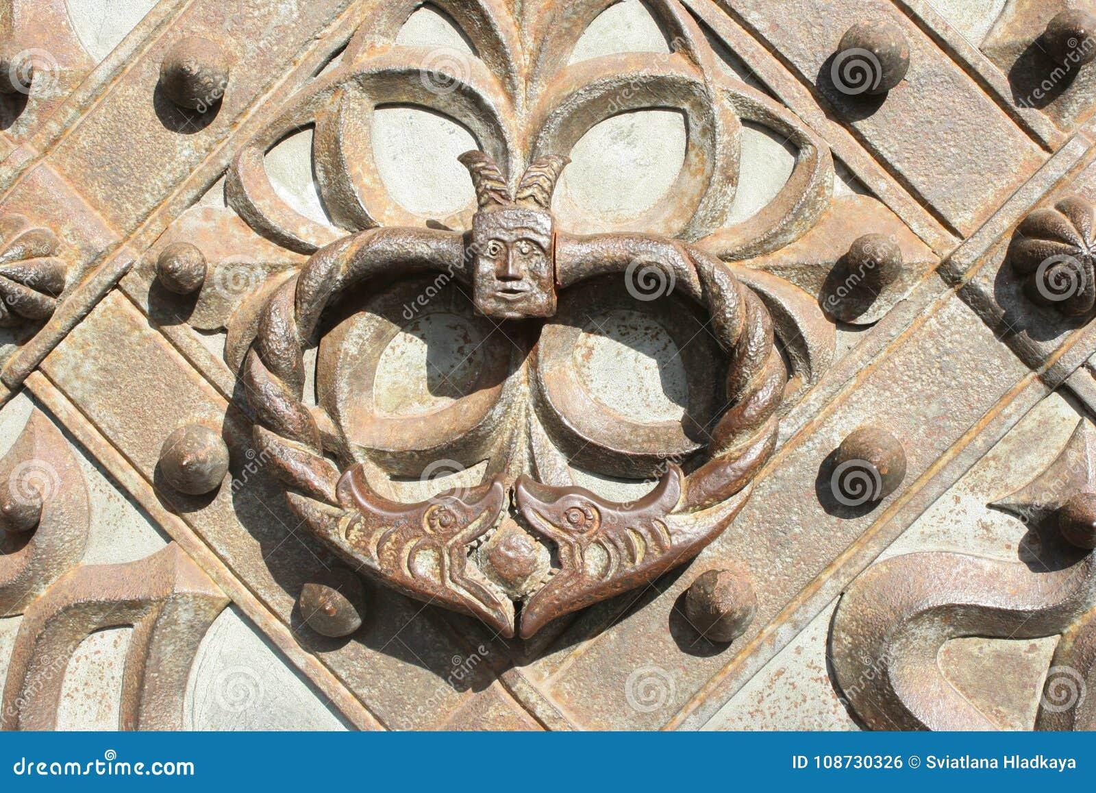 Antique forged door handle