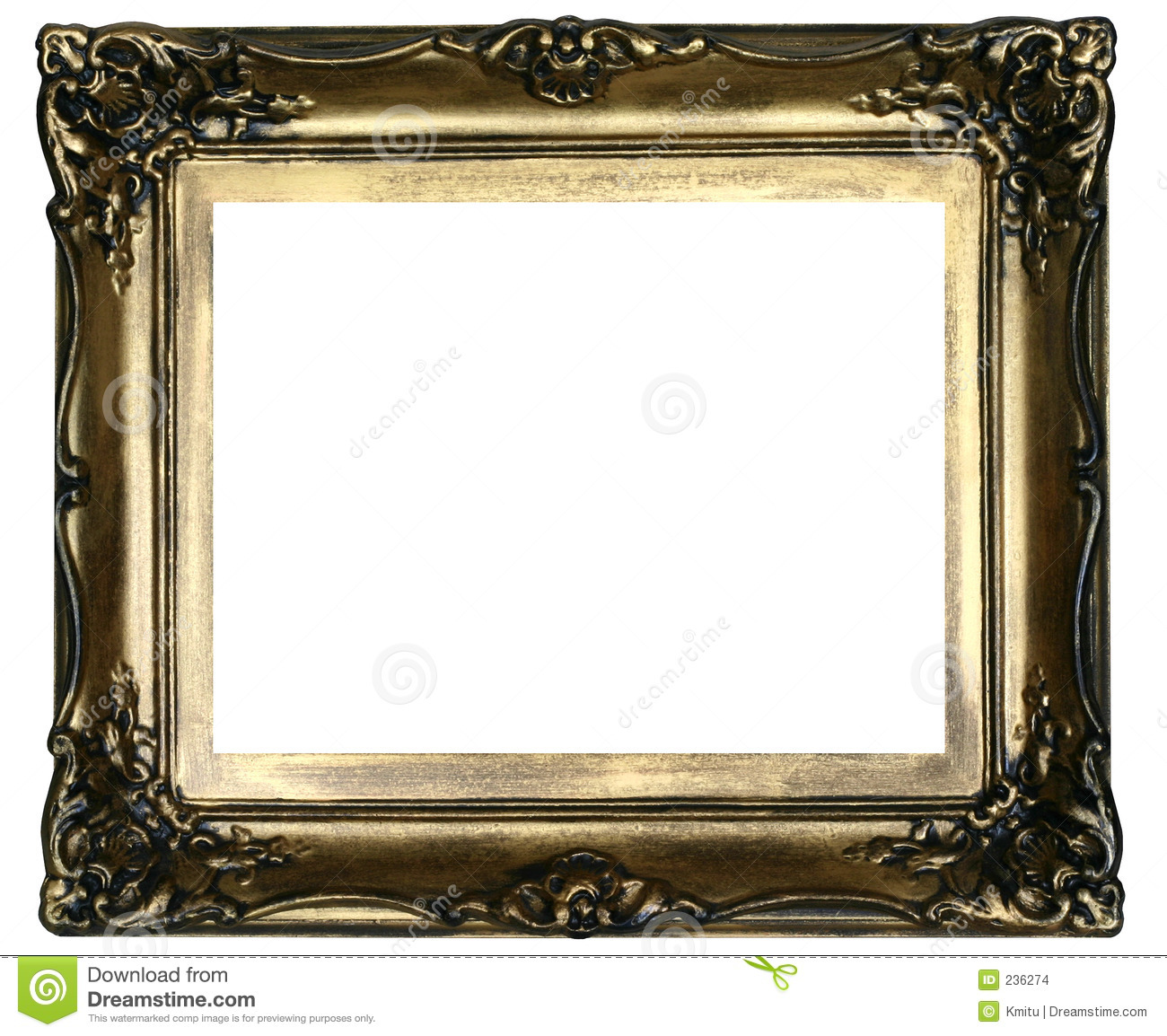Antique frame #2 stock photo. Image of band, decorated - 236274
