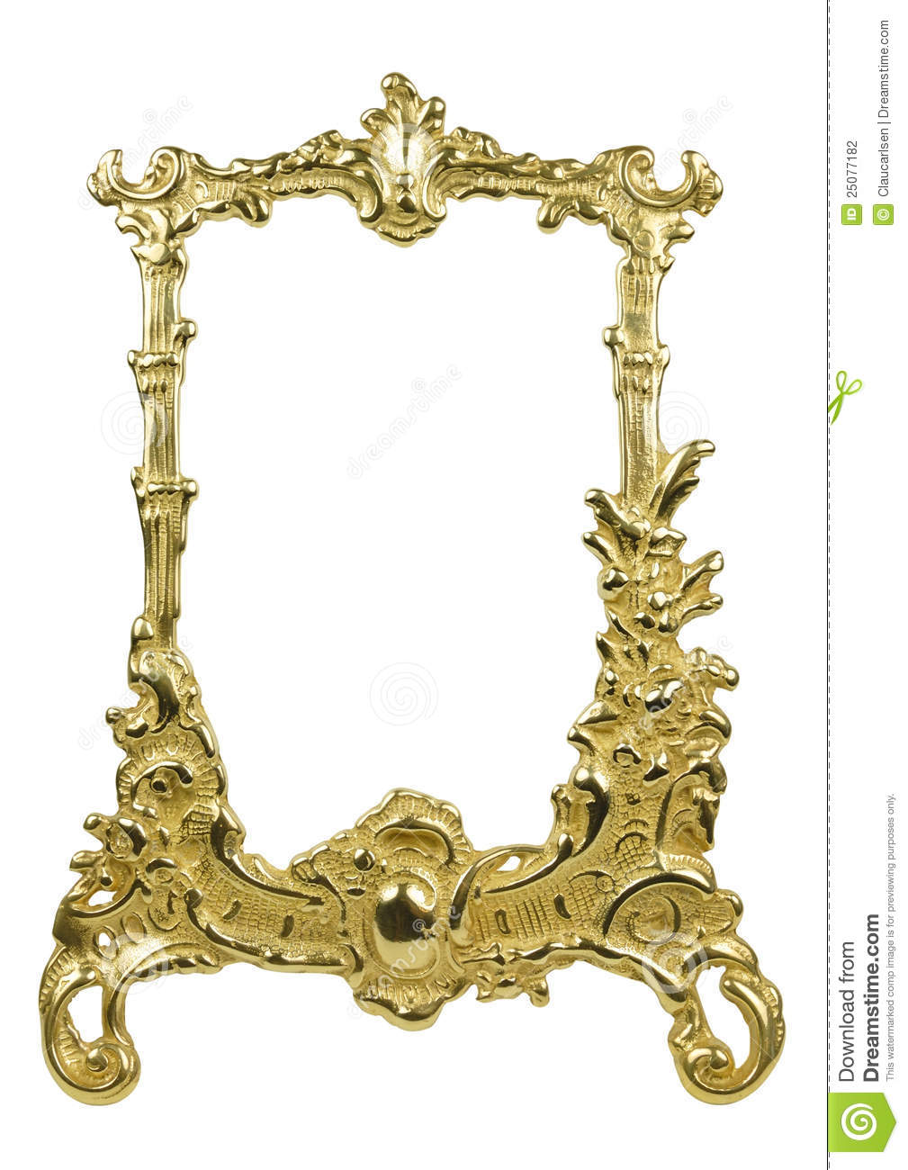 Antique frame stock photo image of french frame white for Rococo style frame