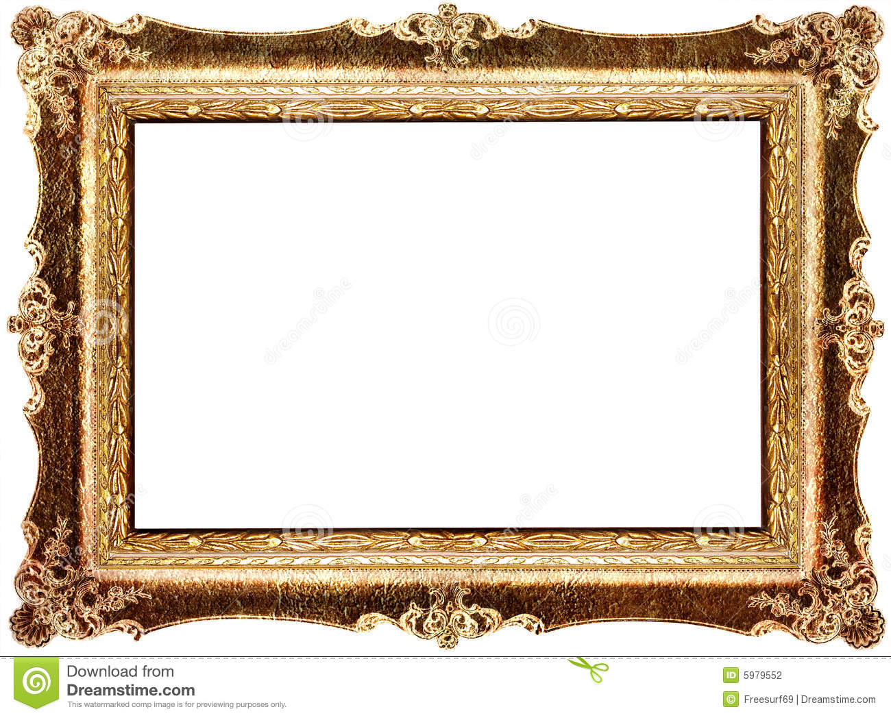 Antique frame stock illustration illustration of handmade for How to make vintage frames