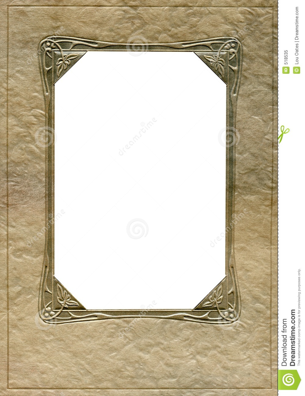 antique frame with ornate oversized corners from the early 1900 39 s
