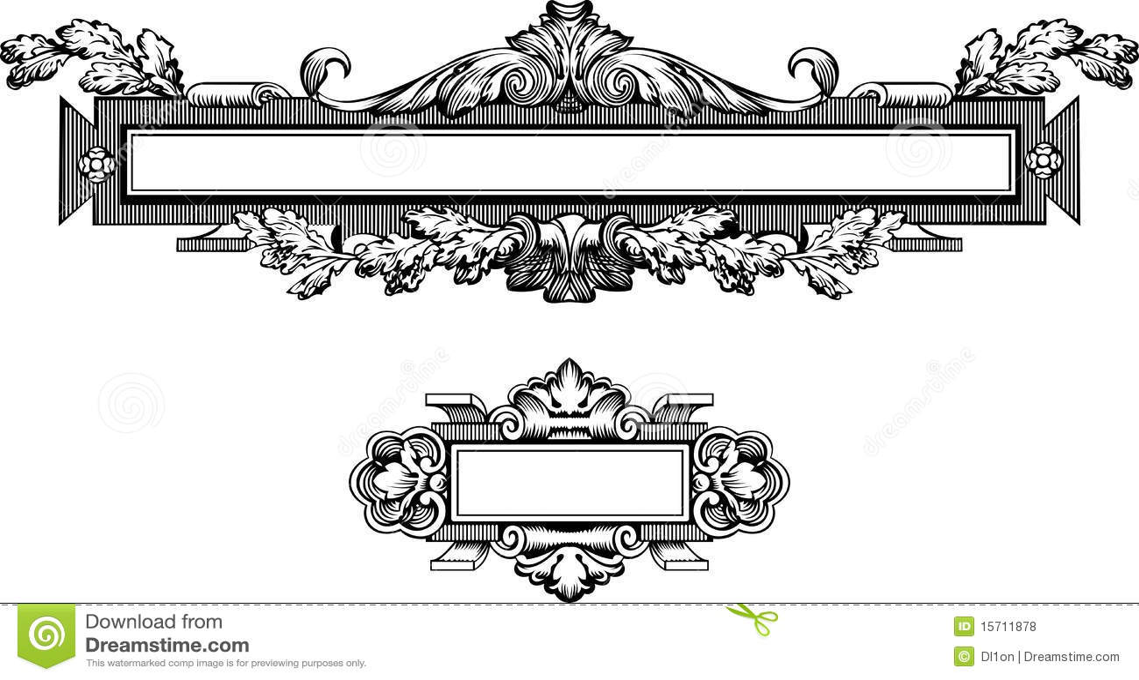antique frame engraving