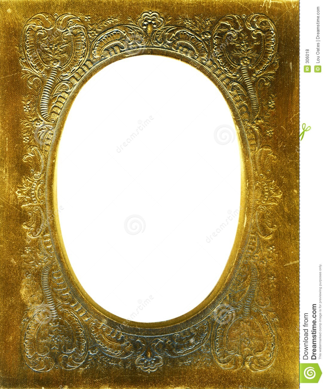 Antique Frame With Gold Mat Stock Photo Image Of Grungy