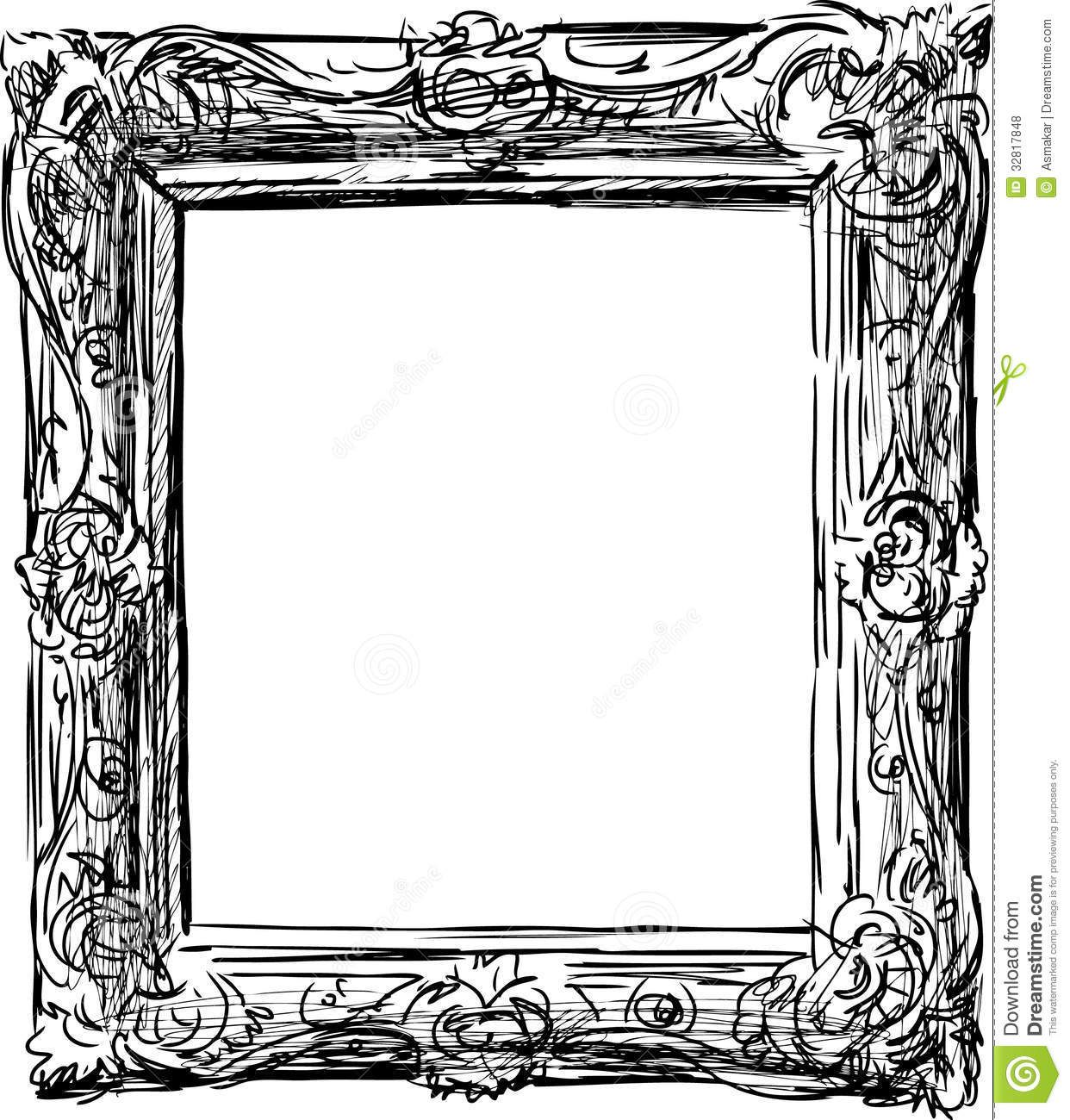 Antique frame stock photo. Image of framework, sketch ...