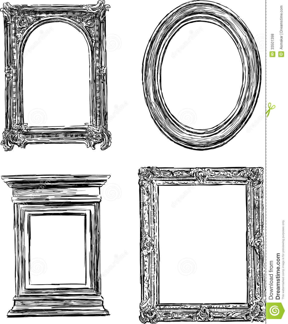 antique frames royalty free stock photos image 33501398. Black Bedroom Furniture Sets. Home Design Ideas