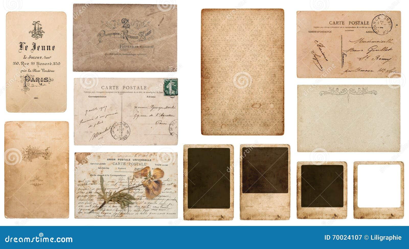 Antique French Carte De Visite Postcard Postale Photo Frame Cardboard