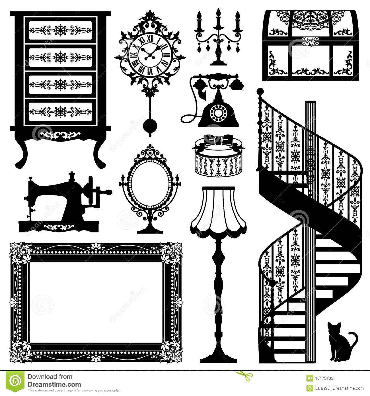 Antique Furniture Stock Vector Image Of Cosmetics Beautiful