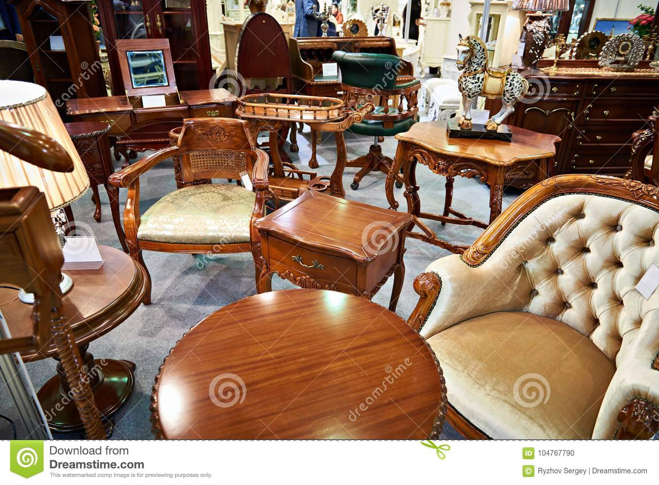 Antique Furniture Store Stock Photo Image Of Store 104767790