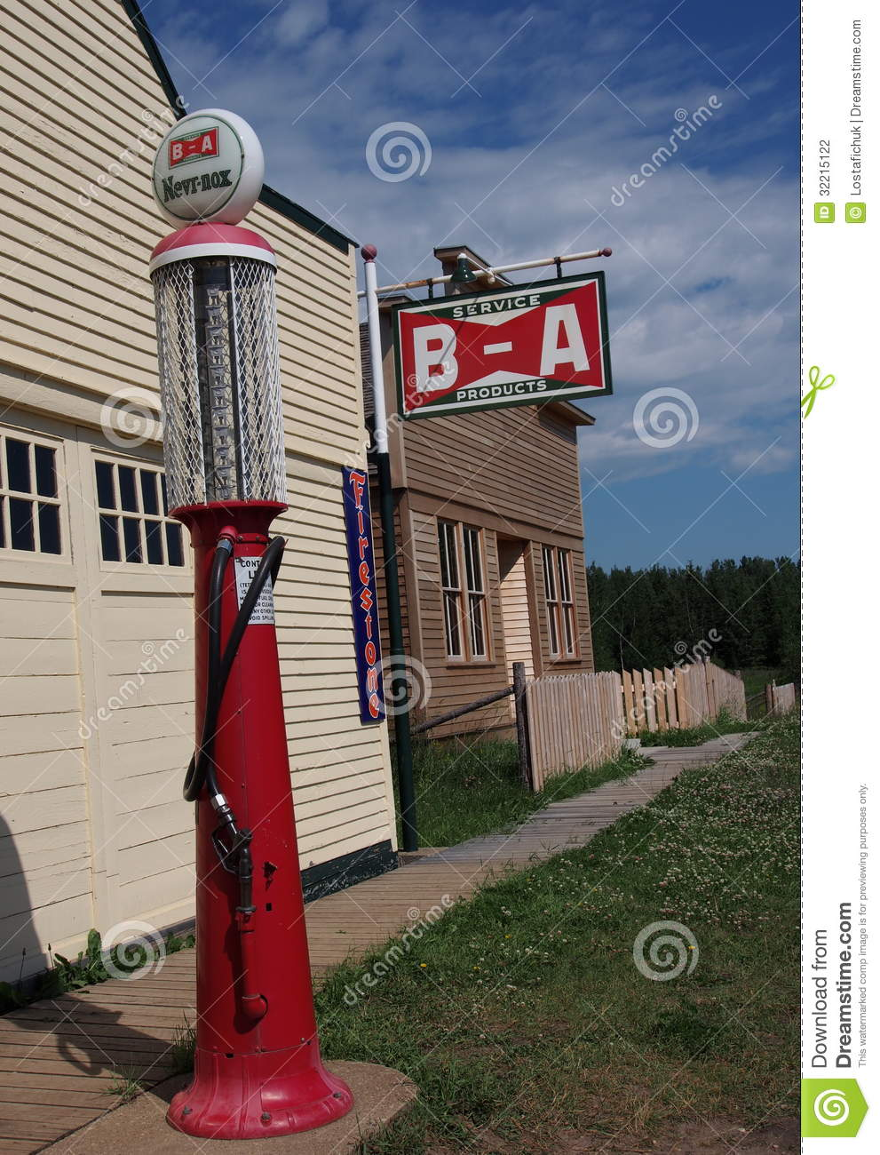 Antique Gas Pump With BA Sign At Ukranian Village ...