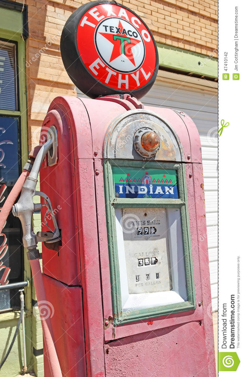 Antique Gas Pump editorial photography  Image of business - 47410142