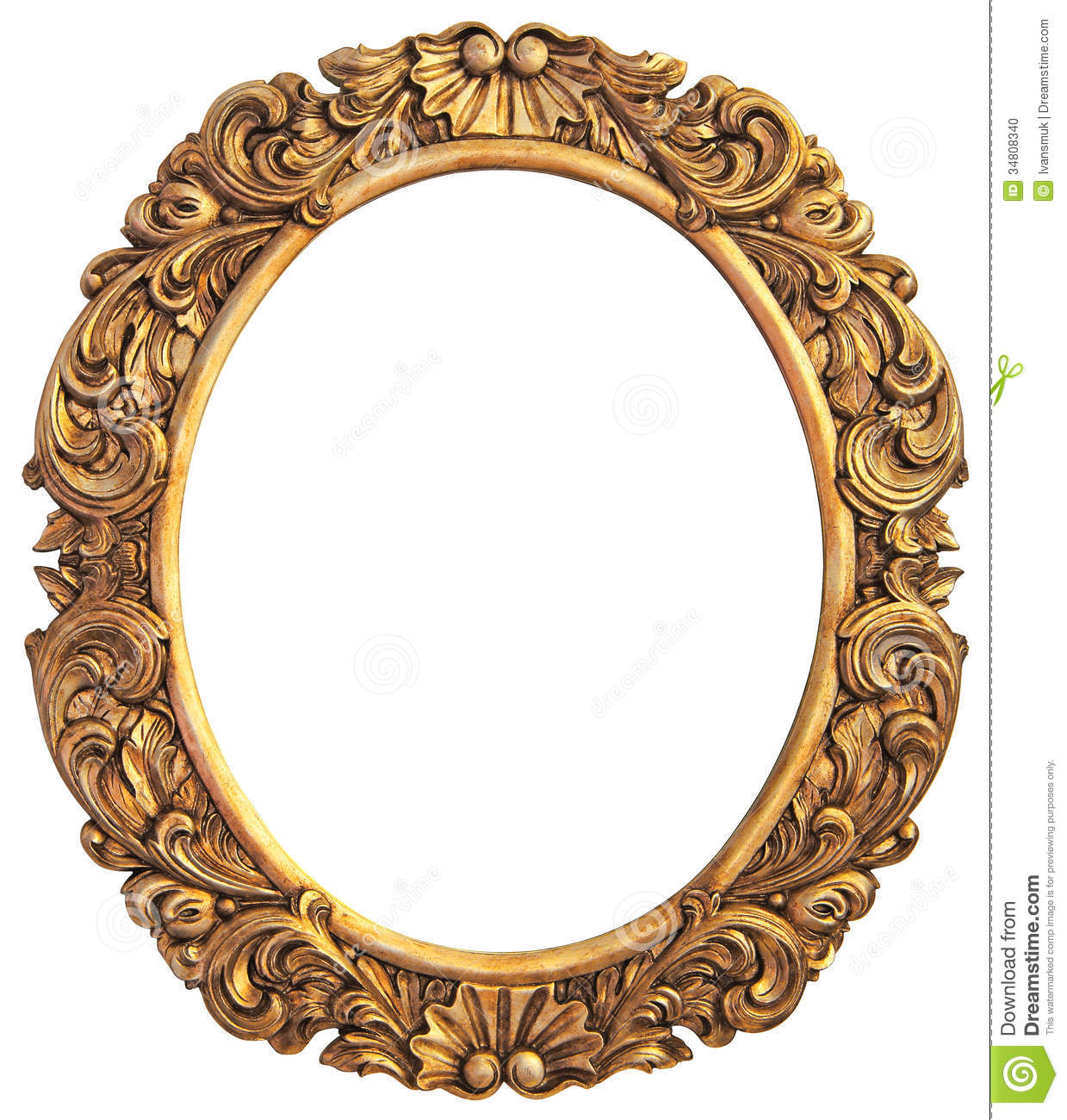 antique gilded frame stock photo