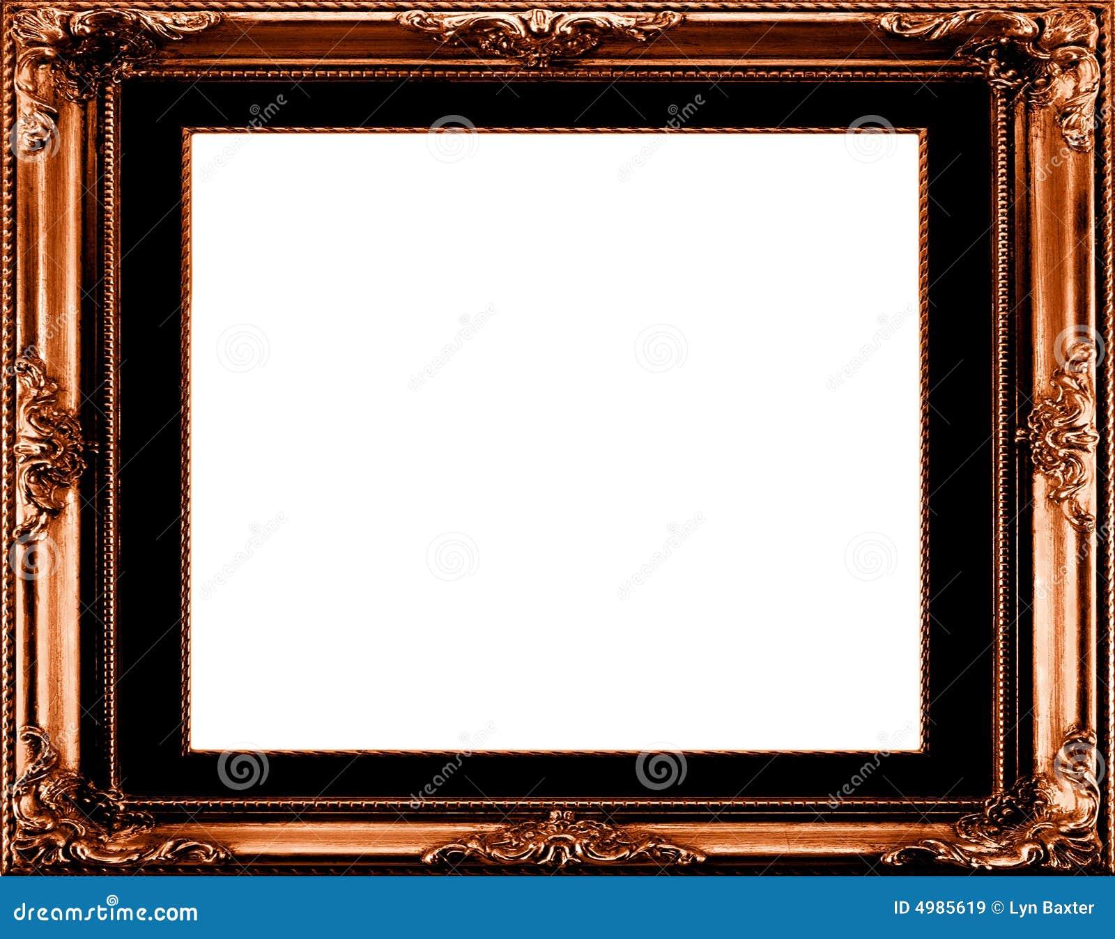 Antique gilt frame stock illustration. Illustration of blank - 4985619