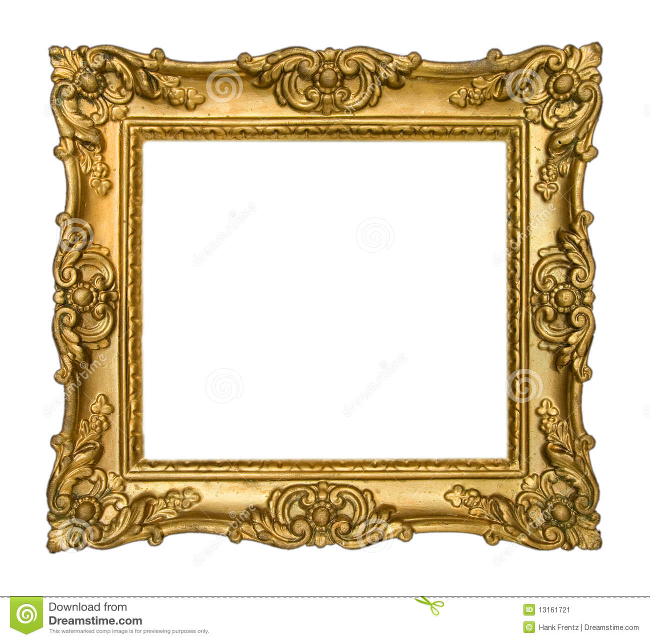 Antique gold frame stock image image of copy intricate for How to make vintage frames