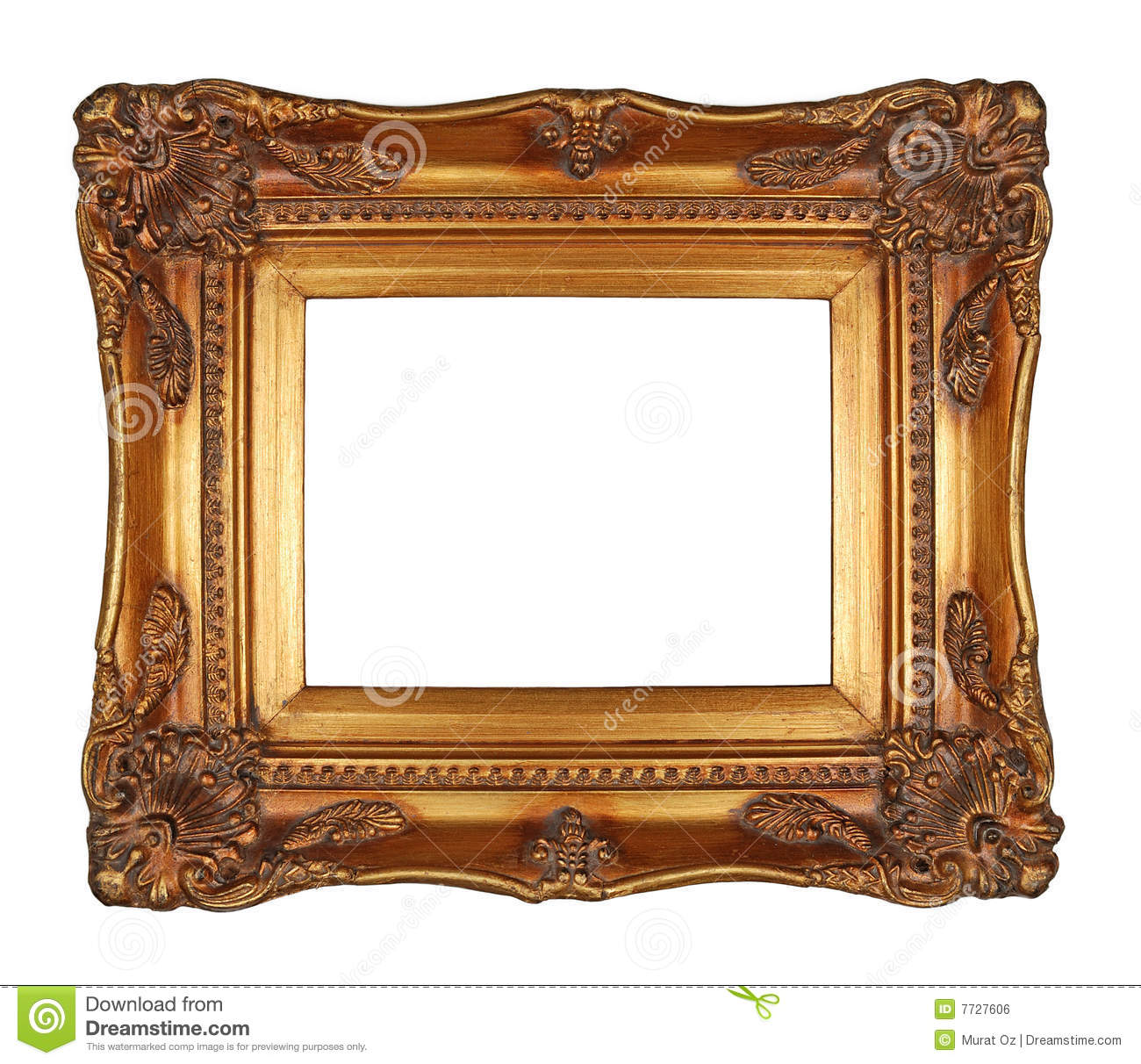 Antique Gold Frame stock photo. Image of paintings, ornate - 7727606