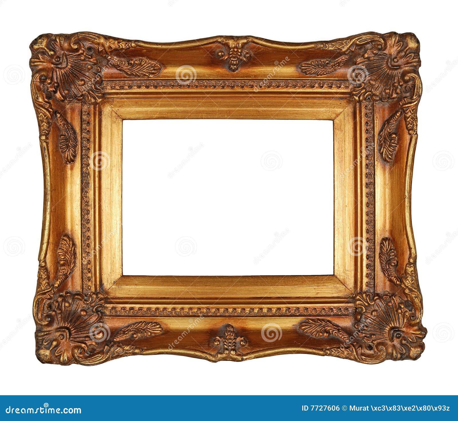 Antique Gold Frame Royalty Free Stock Image - Image: 7727606