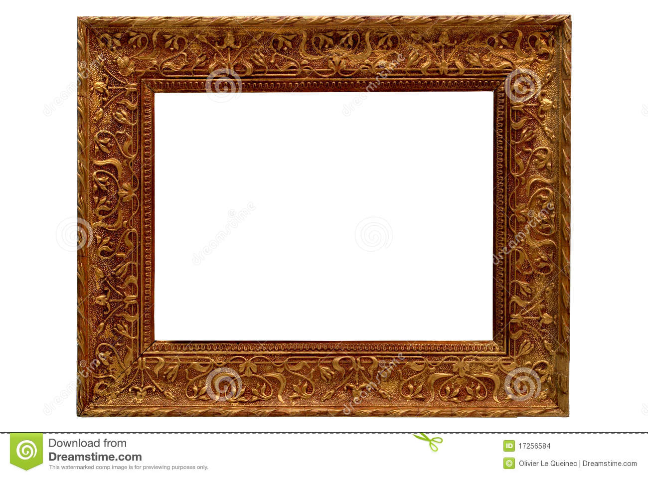 antique gold old style gilded picture frame stock photo image of gold picture 17256584. Black Bedroom Furniture Sets. Home Design Ideas