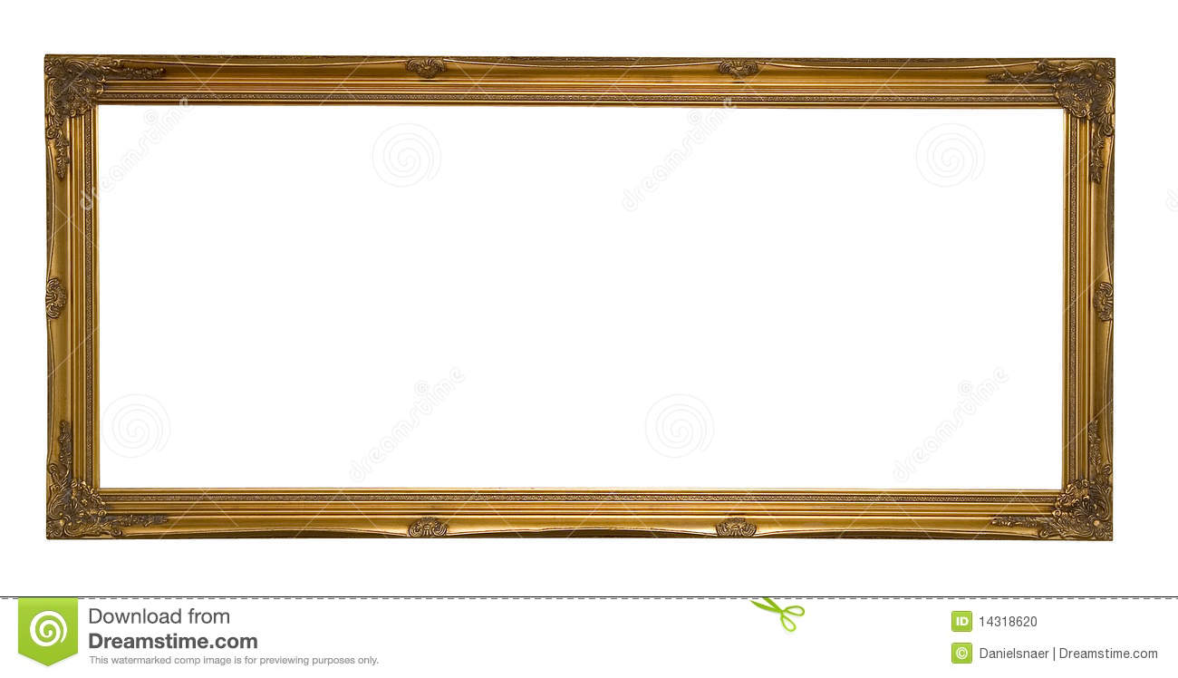 Antique Gold Panoramic Picture Frame Stock Photo Image 14318620