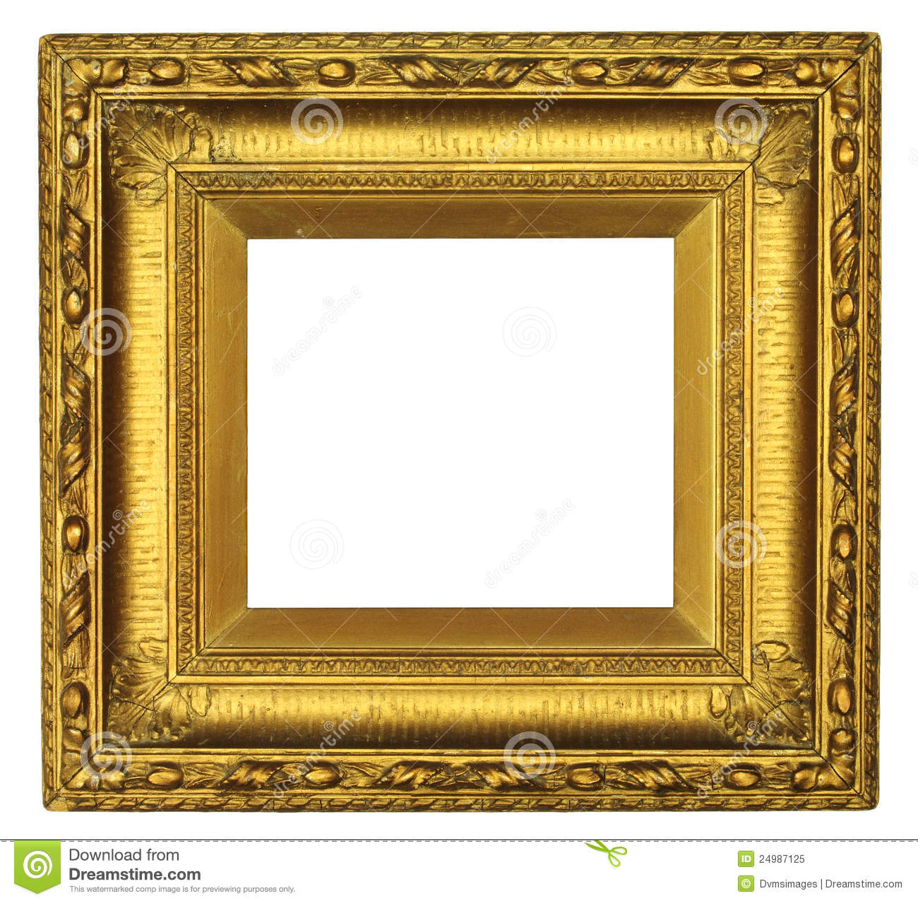 Antique Gold Picture Frame stock image. Image of golden ...
