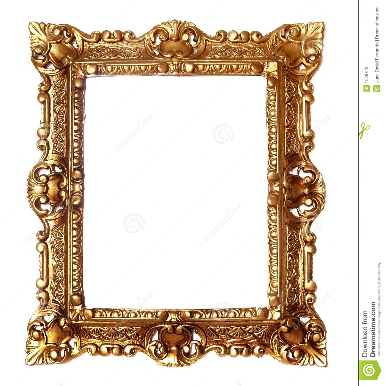 Antique Golden Frame Stock Photos  Image: 1576873