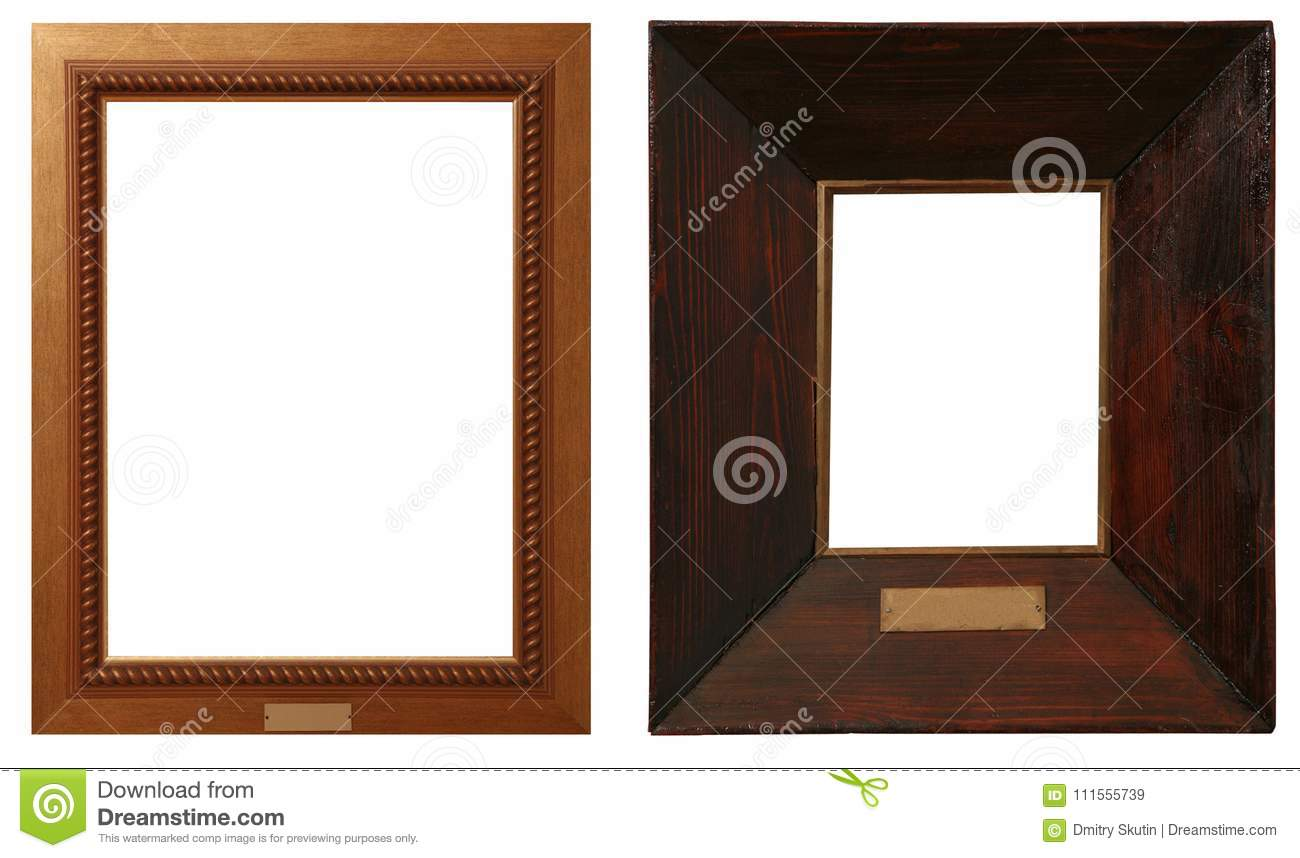 e709585a427 Antique Golden Frame Isolated On White Background Stock Image ...