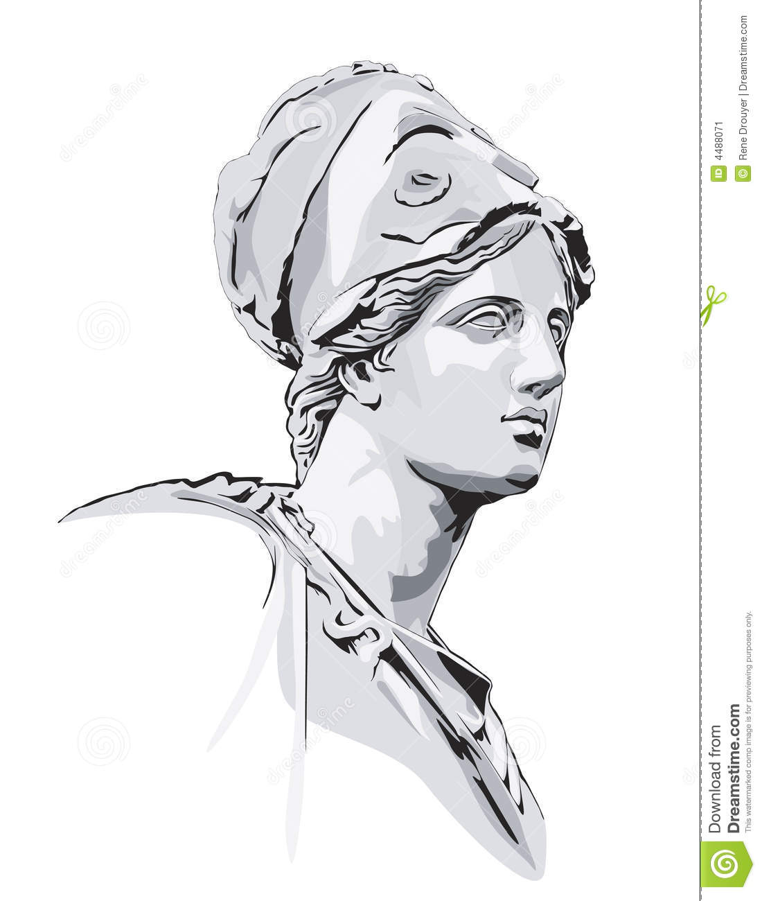 how to draw greek statues